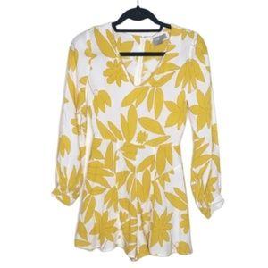 ASOS | Floral Long Sleeve Romper NWOT